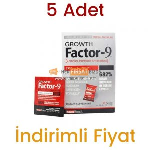 5 Adet Growth Factor 9 Tropikal Lezzet 20 Paket