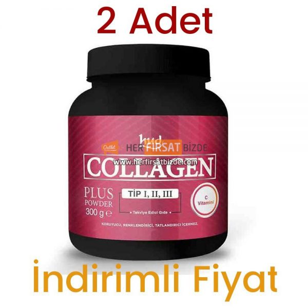 2 Adet Hud Collagen Plus Toz Kolajen Powder 2 x 300 GR