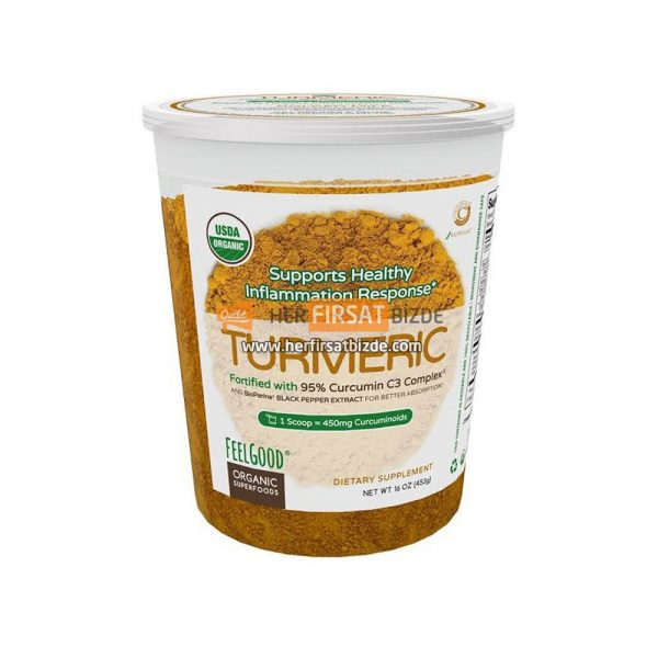 Feel Good Zerdeçal Tozu USDA Organic Turmeric Powder 450 GR