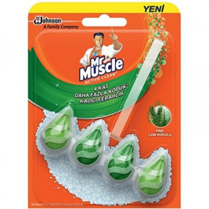 Mr Muscle Active Clean 5 in 1 Klozet Blok Çam Kokulu 30g Wc Bloğu