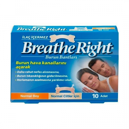 Breathe Right Burun Bandı Normal Klasik 10lu